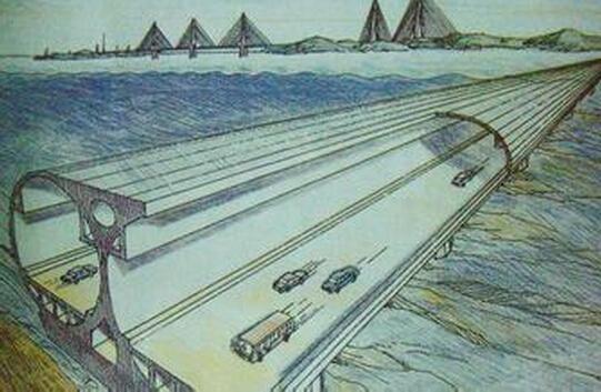 """烟大跨海隧道设计由""""c形""""绕行变为""""i形""""直达"""